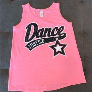 Pink Justice Dance tank top